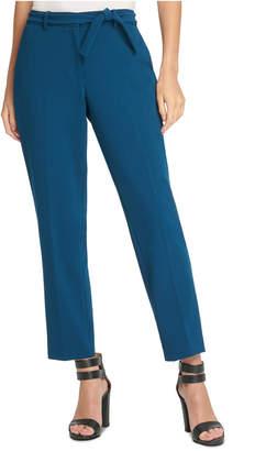 DKNY Petite Tie-Belted Dress Pants