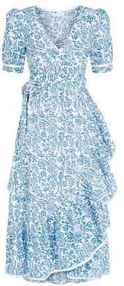 Pink City Prints - Sky Chintz Wrap Dress - XS/8