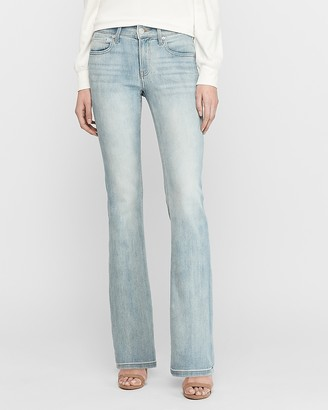 Express Mid Rise Light Wash Bootcut Jeans