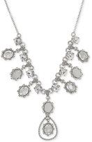 Marchesa Silver-Tone Crystal Statement Necklace