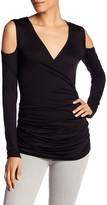 Bailey 44 V-Neck Long Sleeve Cold Shoulder Shirt