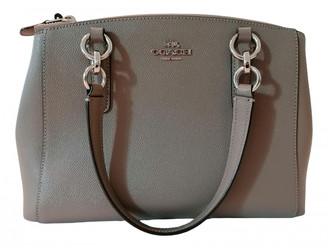Coach Crossgrain Kitt Carry All Grey Leather Handbags