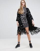 Jaded London Glitter Stars Velvet Kimono