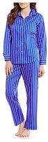 Lauren Ralph Lauren Striped Sateen Classic Pajamas