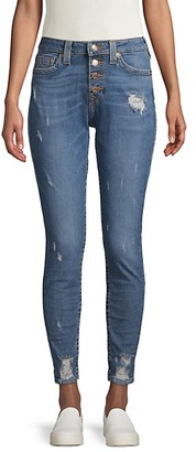 True Religion Jennie Distressed High-Rise Jeans