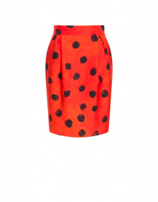 Moschino Cady Mini Skirt Polka Dots Woman Red Size 40 It - (6 Us)