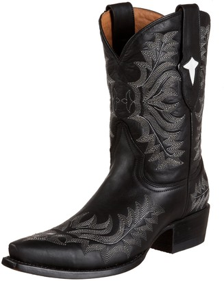 Stetson Women's 6104 Short Boot High Oil Black 5 M US