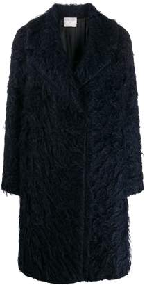 Forte Forte textured single breasted coat