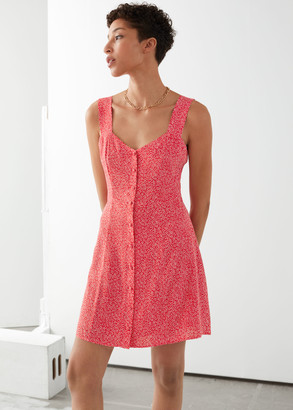 And other stories Sleeveless Button Up Mini Dress