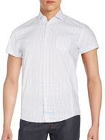 English Laundry Printed Cotton Short Sleeve Shirt