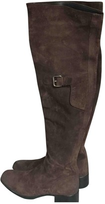 Prada Brown Suede Ankle boots