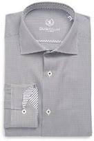 Bugatchi Men's Trim Fit Diamond Grid Dress Shirt