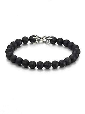David Yurman Men's Spiritual Bead Onyx Bracelet