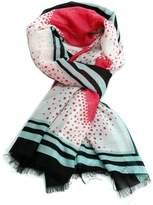 Violet Del Mar Pink Heart Scarf