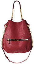Oryany As Is Italian Leather Hobo Bag w/ Chain Detail -Selina