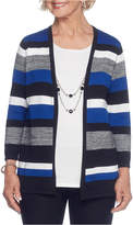 Alfred Dunner 3/4 Sleeve Crew Neck Layered Sweaters