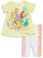 Nannette Girls 2-6x Girls Two-Piece Princess Top and Capris Set