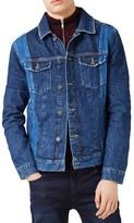 Topman Men's Two-Tone Denim Jacket