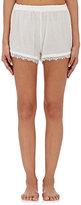 Skin Women's Lace-Trimmed Gauze Pajama Shorts-WHITE