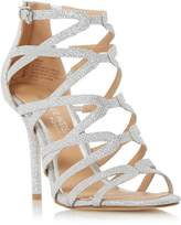 Head Over Heels by Dune MEEMI - SILVER Strappy Caged High Heel Sandal