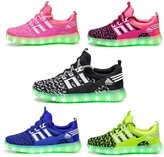 INIEIWO Kids Led Shoes Lighting Up 7 Colors Flashing USB Rechargeable Summer Sneakers for Girls Boys