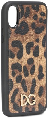 Dolce & Gabbana Printed leather iPhone XS Max case
