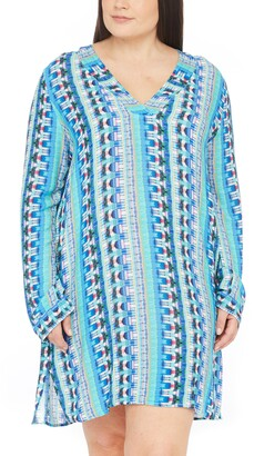 La Blanca Global Jive Long Sleeve Tunic Cover-Up