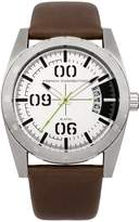 French Connection Men's FC1169T Parkside Multifunction 3 Hands Dial Watch