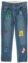 Stella McCartney Lohan Music Note Boyfriend Jeans