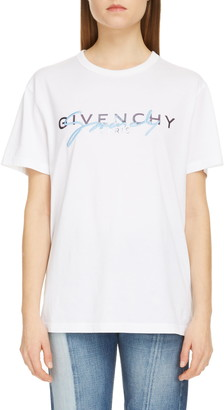 Givenchy Embroidered Logo Cotton Tee