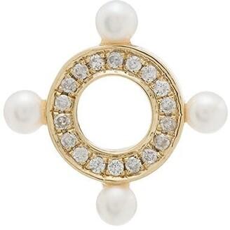 Anissa Kermiche 9K yellow gold Quatuor diamond earring