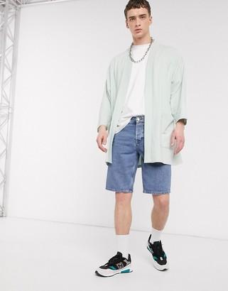 ASOS DESIGN lightweight jersey kimono cardigan in aqua