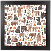 "Americanflat ""Woodland Animals,"" Art Print, 9""x9""x1"""