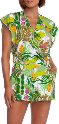 Trina Turk It's Bananas Printed Coverup Romper