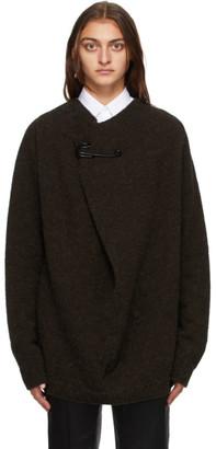 Raf Simons Brown Wool Pin Sweater