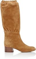 Chloé Women's Suede Knee Boots-BROWN