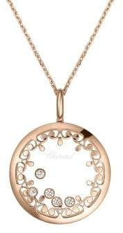 Chopard Happy Diamonds& 18K Rose Gold Joaillerie Pendant