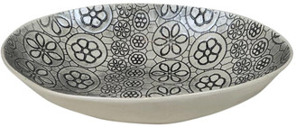 Wonki Ware - Large Etosha Bowl In Charcoal Mixed Pattern - ceramic | charcoal - Charcoal