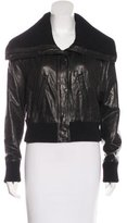 Vince Leather Wide-Collar Jacket w/ Tags