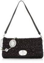 Miu Miu Crystal-Embellished Sequin Shoulder Bag