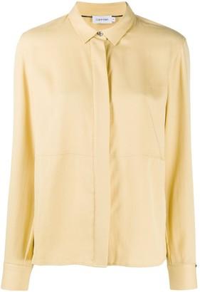 Calvin Klein Panelled Long-Sleeved Shirt