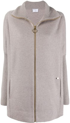 Fedeli Zip-Up Cashmere Cardigan