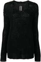 Rick Owens v-neck jumper - women - Cotton - XS
