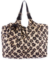 RED Valentino Leopard Bow-Accented Shoulder Bag