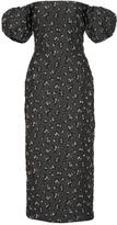 Brock Collection Off-The-Shoulder Jacquard Dress