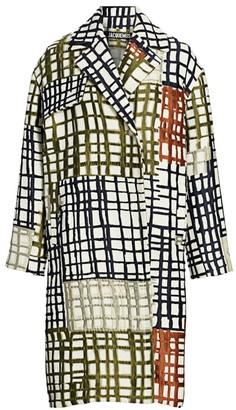 Jacquemus Jacquard Tile Button-Front Coat