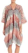 Josie Natori Couture Beachy Cotton And Silk Caftan