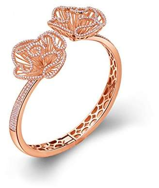 L・I・U Fei Liu Fine Jewellery Cascade Womens Large Size Bangle in Rose Gold colour Award winning Design 925 Sterling Silver AAA Cubic Zirconia Gift Box Packed