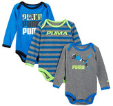 Puma Bodysuit - Pack of 3 (Baby Boys)
