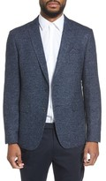 Sand Men's Trim Fit Herringbone Wool Blend Sport Coat